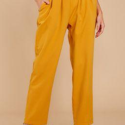 Golden Mind Goldenrod Pants | Red Dress