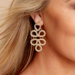 Catching Looks Gold Earrings | Red Dress