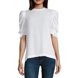 a.n.a Womens High Neck Short Sleeve Blouse - JCPenney | JCPenney
