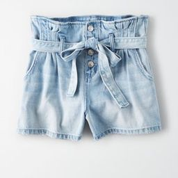 Paperbag Denim Mom Shorts | American Eagle Outfitters (US & CA)