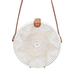 Rattan Bags for Women - Handmade Wicker Woven Purse Handbag Circle Boho Bag Bali | Amazon (US)