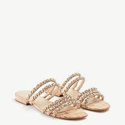 Wesley Chain Flat Sandals | Ann Taylor | Ann Taylor (US)