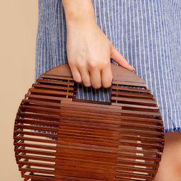 Stuck On Me Brown Bamboo Bag | Red Dress