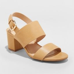 Women's Haley Two Strap City Sandal Pumps - A New Day™   Target