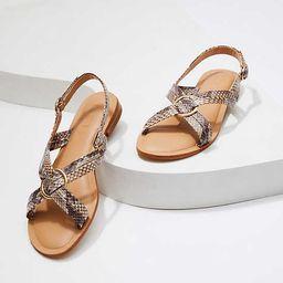 Criss Cross Slingback Sandals | LOFT | LOFT