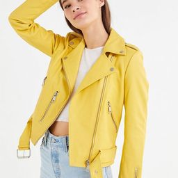 Bagatelle Pebbled Leather Biker Jacket | Urban Outfitters (US and RoW)