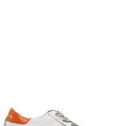 Golden GooseWhite & Orange Superstar Sneakers$480 USDView details   SSENSE