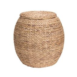 Household Essentials ML-4105 Large Round Wicker Storage Basket Side Table with Lid   Water Hyacinth   Amazon (US)