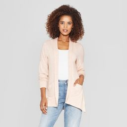 Women's Long Sleeve Lace-Up Back Open Cardigan - Knox Rose™ Peach | Target