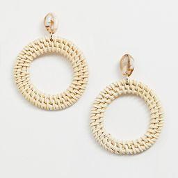 Liars & Lovers resin shell & raffia earrings | ASOS US