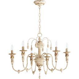 Salento 25 Inch 6 Light Chandelier by Quorum International | Capitol Lighting 1800lighting.com