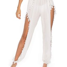 Kistore Womens Crochet Net Hollow Out Beach Pants Sexy Swimsuit Cover Up Pants | Amazon (US)
