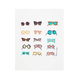 Shades of Winter Screenprint | Colorful Sunglasses Screenprint | UncommonGoods