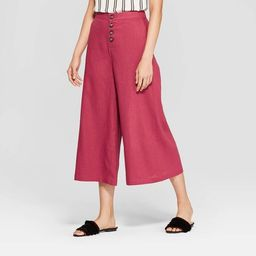 Women's Button Front Wide Leg Palazzo Pants - Who What Wear™   Target