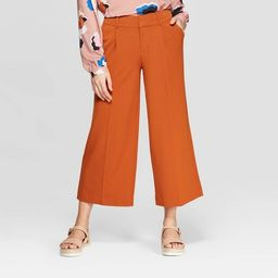 Women's Regular Fit Wide Leg Crop Fashion Pants - A New Day™   Target