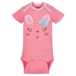 Organic Cotton Short Sleeve Onesies Bodysuits, 5pk (Baby Girls)   Walmart (US)