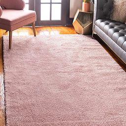 Unique Loom Solo Collection Plush Casual Pink Area Rug (3' x 5')   Amazon (US)