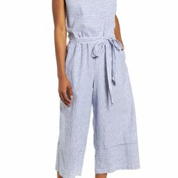beachlunchlounge Talia Stripe Cotton & Linen Jumpsuit | Nordstrom | Nordstrom