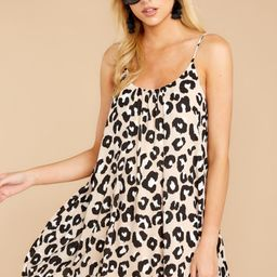 Follow Along With Me Light Leopard Print Dress   Red Dress