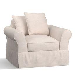 PB Comfort Roll Arm Slipcovered Armchair | Pottery Barn (US)