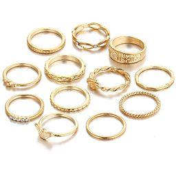 Cyntan Fashion Rings Set Boho Rhinestone Stackable Rings Set for Women Girls | Amazon (US)