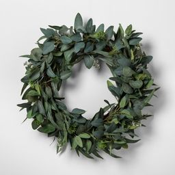 Faux Seeded Eucalyptus Wreath - Hearth & Hand™ with Magnolia | Target