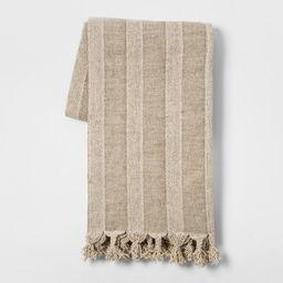 Washed Cotton Linen Stripe Throw Blanket Neutral - Threshold™ | Target