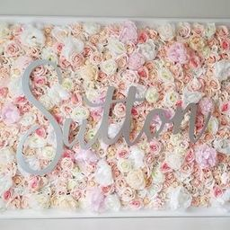 Baby Name Sign, Floral Wall, Floral Nursery Name Sign, Floral Letter Name Sign, Elegant Nursery,F...   Etsy (US)