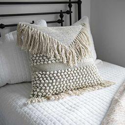 Ivory Knotted Fringe Pillow | Kirkland's Home
