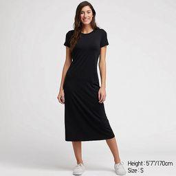 WOMEN SHORT-SLEEVE LONG BRA DRESS   UNIQLO (US)