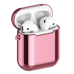 REFLYING Case Compatible for AirPods [1st and 2nd Gen], Soft TPU Plated Case Shockproof Protectiv...   Amazon (US)