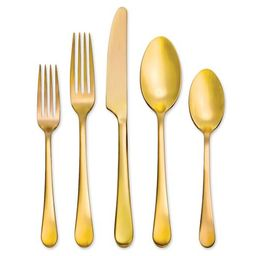 Mirabella Flatware, Set of 5 - Warm Gold | Pottery Barn (US)