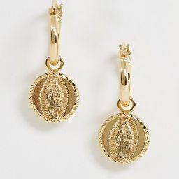 Rock 'N' Rose gold plated guadalupe huggie hoop earrings   ASOS US