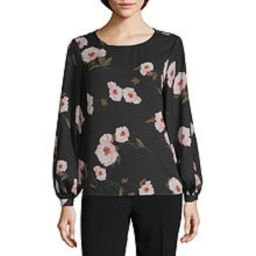 Worthington Womens Round Neck Long Sleeve Blouse - JCPenney | JCPenney