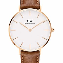 Classic Petite Leather Strap Watch, 32mm   Nordstrom