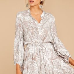 Let This Be Taupe Snake Print Dress | Red Dress