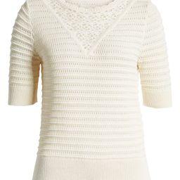 Crochet Pointelle Sweater | Nordstrom