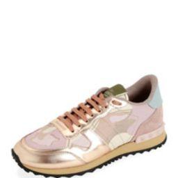 Rockrunner Low-Top Metallic Camo Sneakers | Bergdorf Goodman