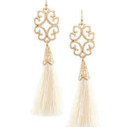 Southern Living Filigree Tassel Statement Earrings | Dillard's | Dillards