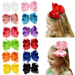 HLIN 12 Pcs 4.5 inch Grosgrain Ribbon Boutique Hair Bows Alligator Clips Hand Made for Baby Girls...   Amazon (US)