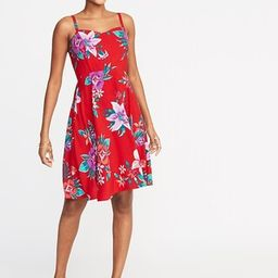 Fit & Flare Printed Cami Dress for Women   Old Navy US