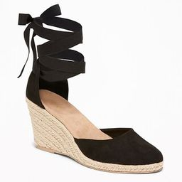 Faux-Suede Espadrille Wedges for Women | Old Navy US
