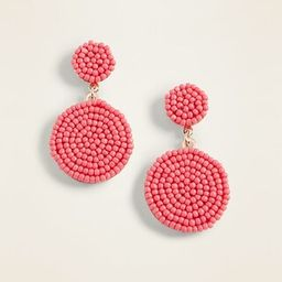 Beaded Disk Drop Earrings for Women | Old Navy US