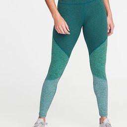 High-Rise Elevate Color-Block Melange Leggings for Women   Old Navy US