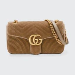 GG Marmont Small Quilted Velvet Crossbody Bag   Bergdorf Goodman