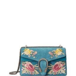 Dionysus Small Suede Floral Shoulder Bag   Bergdorf Goodman