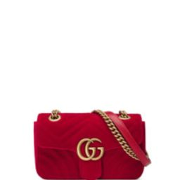 GG Marmont Mini Velvet Shoulder Bag   Bergdorf Goodman
