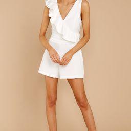 Gotta Be Me White Romper | Red Dress