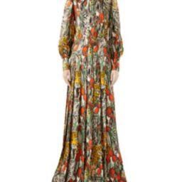 Feline-Garden Animal-Print Silk Shirtdress | Bergdorf Goodman