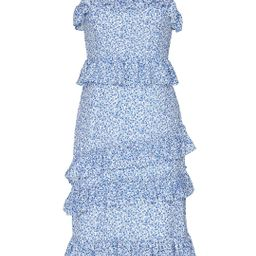 Alexia Admor Blue Ivory Floral Dress   Rent The Runway